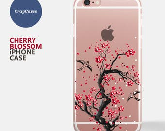 cherry blossom iPhone 6 case, cherry blossom iPhone 7 Case, Floral iPhone 7 plus Case, Floral iPhone 6 and 7 Plus Case (Shipped From UK)