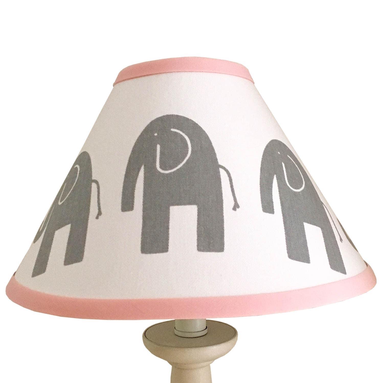 Elephant lamp for nursery - Light Pink Grey White Elephant Lampshade Baby Girl Boy Grey Pink Elephant Lampshade Nursery Elephant Girls Boys Room Grey Blue Lampshade