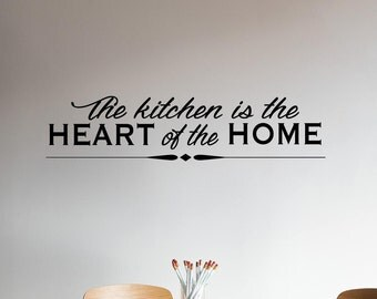 Heart of the Home Quotes | Family Wall Decal | Family Decor | Family Wall Decal | Quote Decal | Quote Wall Decal | Wall Quotes