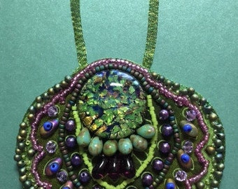 Greens and Pink necklace
