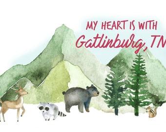 Sevier County Snapchat Geofilter - East Tennessee Geofilter - Gatlinburg Geofilter -All proceeds go to Gatlinburg wildfire relief fund