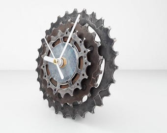 Bike gear clock, bicycle gear clock, gift for boys, gift for him, cassette clock, sprocket clock, cog clock, bike clock, bicycle clock