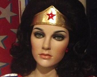GOLD Wonder Tiara headband for child man or woman