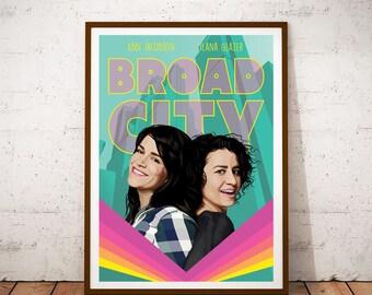 Broad City illustration Poster