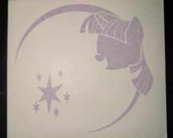 My Little Pony Friendship is Magic Twilight Sparkle Silhouette Vinyl Decal