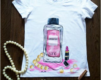 Hand Painted T-Shirts - Happy Life - The Weeknd Clothing - Birthday Gift For Her - Wonder Woman Shirt - Summer Shirt - Ladies Shirt