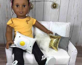 NEW! Urban egg 4 piece pillow pack for 18 inch dolls such as American Girl Dolls