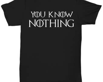 You Know Nothing T-Shirt , Game Of Thrones , Jon Snow