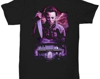 HALLOWEEN MICHAEL MYERS John Carpenter Classic Horror Movie shirt Tee T-shirt  S - 5XL  Black 6