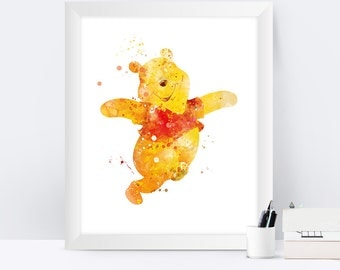 Winnie The Pooh Wall Art pooh wall art | etsy