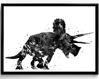 Triceratops, Dinosaur, Animal print, Instant Download, Poster, Room Decor, gift, Printable Wall Art (796)