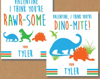 Dinosaur Valentines, Dino Valentines Day Cards, Printable Valentines, Printable Cards, Dinosaur Cards