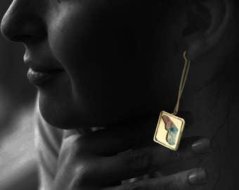 Butterfly Gold Dangle Earrings for Women Very Long Elegant Earrings for Summer Gift for Her Alternative Wedding Elegant Statement Earrings
