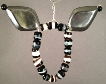 Beaded Zebra Pendant
