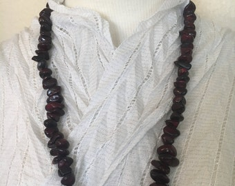 Cherry Red Stone Beaded Necklace!!