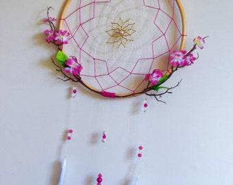 Handmade Cherry Blossom Dreamcatcher
