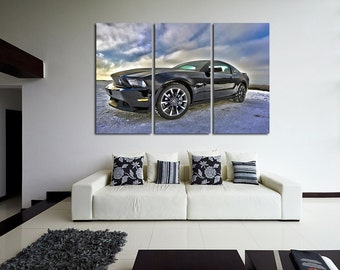 Ford GT Wall Art Multi Panels Set Shelby Wall Art Cars Canvas Art Sport Cars Wall Art Sport Cars Print Poster Ford GT Wall Decor Canvas