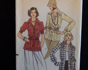 1970s Vintage Vogue Jacket Pattern, Vogue 8622, Short Sleeve and Long Sleeve Jacket Pattern, Size 10 Bust 32 1/2 UNCUT