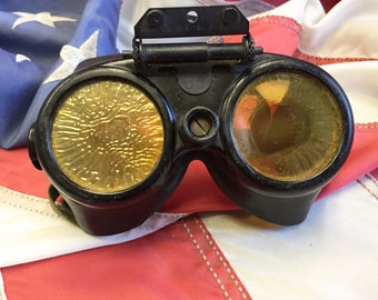 WWII US Military Optical Variable Density Polaroid Gunners Goggles