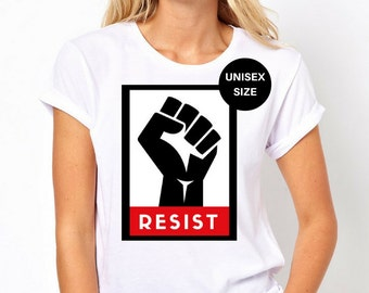 A womans place is in the resistance, the resistance shirt, resistance tshirt, resist shirt, trump resistance, protest trump, resist tshirt