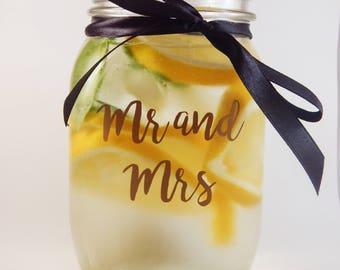 Personalised Wedding/Party Mason Jar