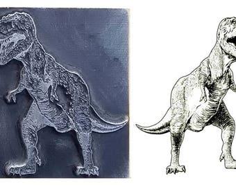 Tyrannosaurus Rex inspired printing stamp