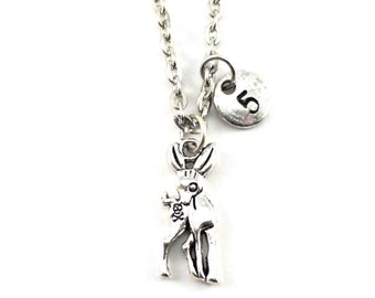 ROCK DEER charm necklace, personalized charm necklace, initial necklace, , personalized jewelry, charm neckalce, initial jewelry, monogram