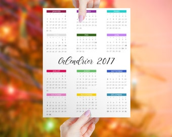 "Digital file from calendar 2017 to print in color, instant download, poster size 11 ""x 14"", wall, birth stone"