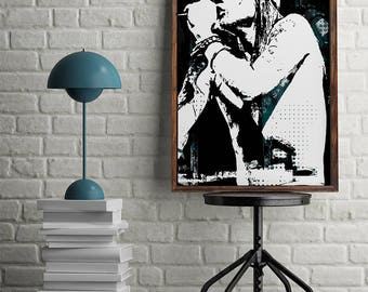 Axl Rose Print Axl Rose Poster Instant Download Digital Print Axl Rose Wall Art Vintage Poster Axl Rose Printable GNR Roster