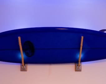 LED surfboard wall rack