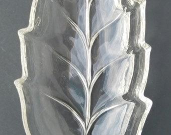 Vintage leaf serving dish
