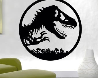 Jurassic Park Decal Jurassic Park Wall Design Jurassic World Wall Decal Jurassic Park Wall Logo Dinosaur Wall Mural The Lost World - GS11