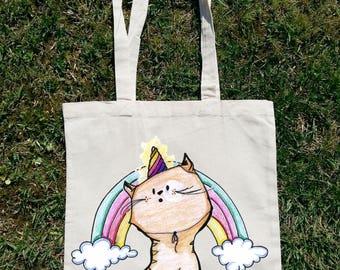 Im A Caticorn, Cat Bag, Cat Tote Bag, unicorn Bag, Unicorn Tote Bag, Cat Beach Bag, Unicorn Beach Bag, i Love Cats, Cat Cloathing