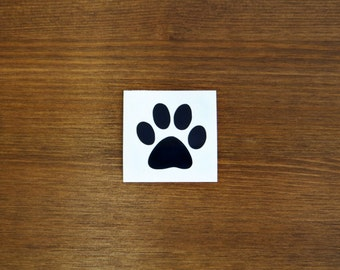 Paw Print Vinyl Decal // Choose Your Color and Size