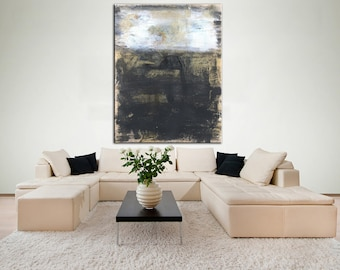 Urban Industrial Art Large On Canvas Dining Room Wall Original Abstract