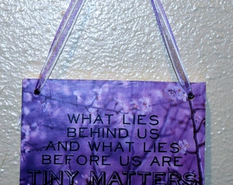 What lies behind us... Wall hanging