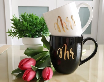 Mr and Mrs Mugs | Engagement and Newlywed Gift