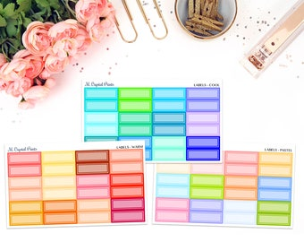 Label Stickers || 24 Planner Stickers