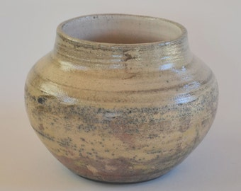 Ceramic Raku vessel