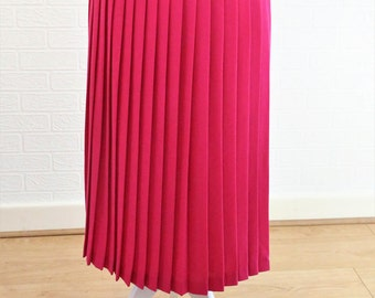 Pleated maxi skirt | Etsy