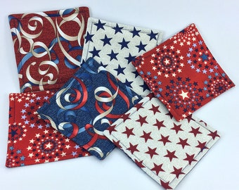 Stars & Stripes Coaster Set (6)