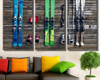 Ski Decor, Ski Wall Art, Skiing Wall Art, Ski Poster, Ski Print Canvas Art, Ski Photo, Ski Wall Decor, Winter Sport, Ski Canvas Ski Art