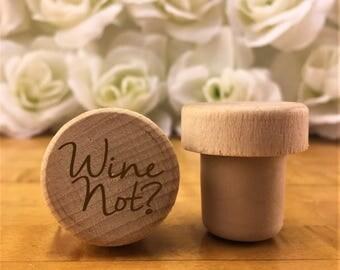 Personalized Wine Stopper - Custom Wine Stopper - Engraved Wood Wine Stopper - Gift - Wine Wedding Gift - Wine Cork - Customized