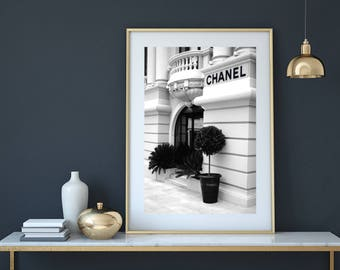 Chanel Print, Chanel Poster, Chanel store, coco chanel print, fashion print, chanel wall art, chanel art, chanel fashion, chanel home decor