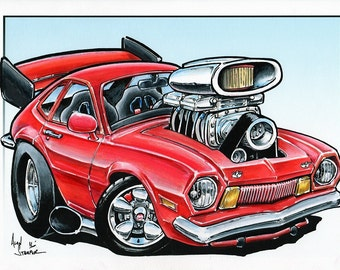 Supercharged Pinto - Original drawing
