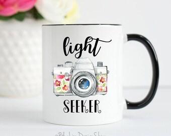Photographer Gift, Photographer Mug, Photography Gift, Light Seeker, Camera Mug, Photography Mug, Wedding Photography, Photography Gifts