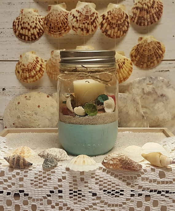 Beach Themed Candle Holder