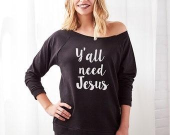 Funny Christmas Sweater, Jesus Ugly Christmas Sweater, The Ultimate Ugly Christmas Sweater, Happy Birthday Jesus, Y'all Need Jesus,  Humor