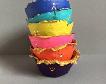Paper Mache Jewelry Bowls