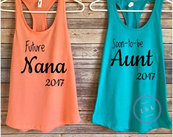 Future grandmother / Future Aunt / Auntie / Nana / Soon-to-be / Pregnancy Announcement